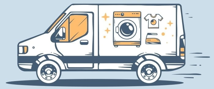 Mandy's Laundry - Pickup and Delivery Van