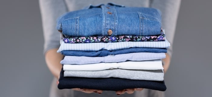 Folded Shirts - Mandy's Laundry